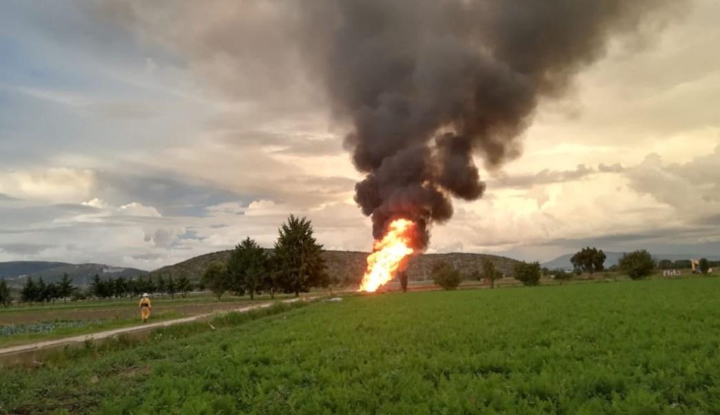 Foto: Protección Civil de Puebla realizó un incendio controlado de la fuga de Gas LP, 20 octubre 2019
