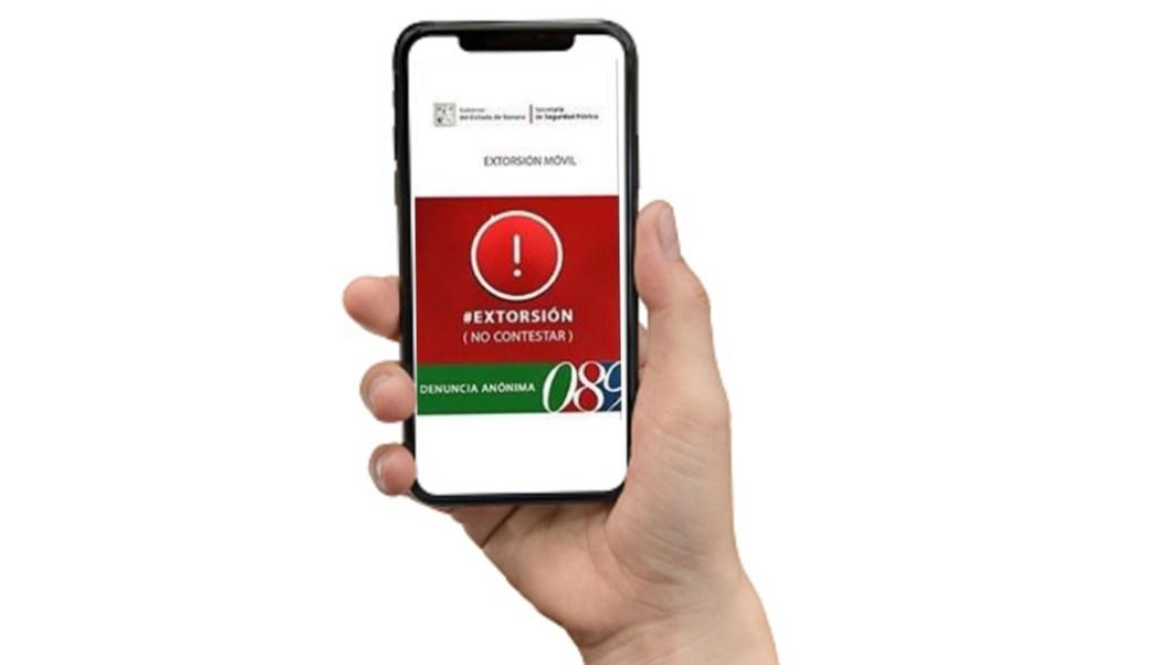 """Foto: La aplicación denominada """"Anti extorsión Sonora"""", a través de una base de datos reconoce los números utilizados para extorsionar y lanza una alerta al usuario a la pantalla de su celular, 04 de octubre de 2019 (Twitter @911Sonora)"""