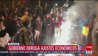 FOTO: Gobierno Ecuador deroga ajustes económicos
