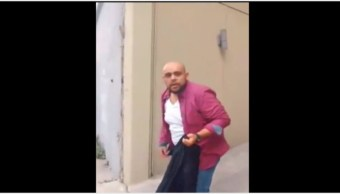 Foto: Hombre golpea a mujer en calles de la Ciudad de México, 27 de octubre de 2019 (Video)