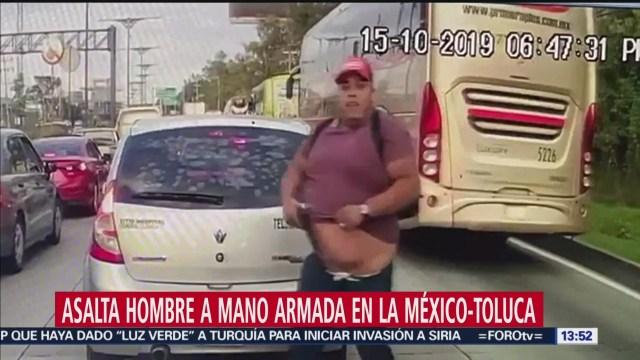 Video asalto carretera México-Toluca,