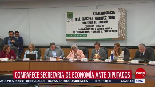 Graciela Márquez, secretaria de Economía, comparece ante diputados