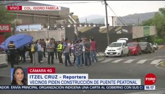 FOTO: Habitantes Isidro Fabela Retiran Bloqueo Periférico CDMX