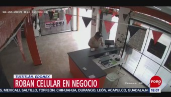 FOTO: Video Hombre Ingresa Local Roba Celular