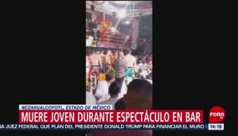 FOTO: Hombre muere ahogado durante show en bar de Ciudad Neza, 13 octubre 2019