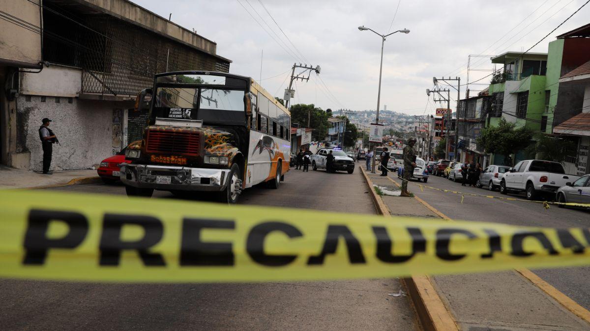 Hombre muerto Acapulco