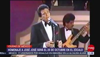 Homenaje a José José será el 25 de octubre en el Zócalo CDMX