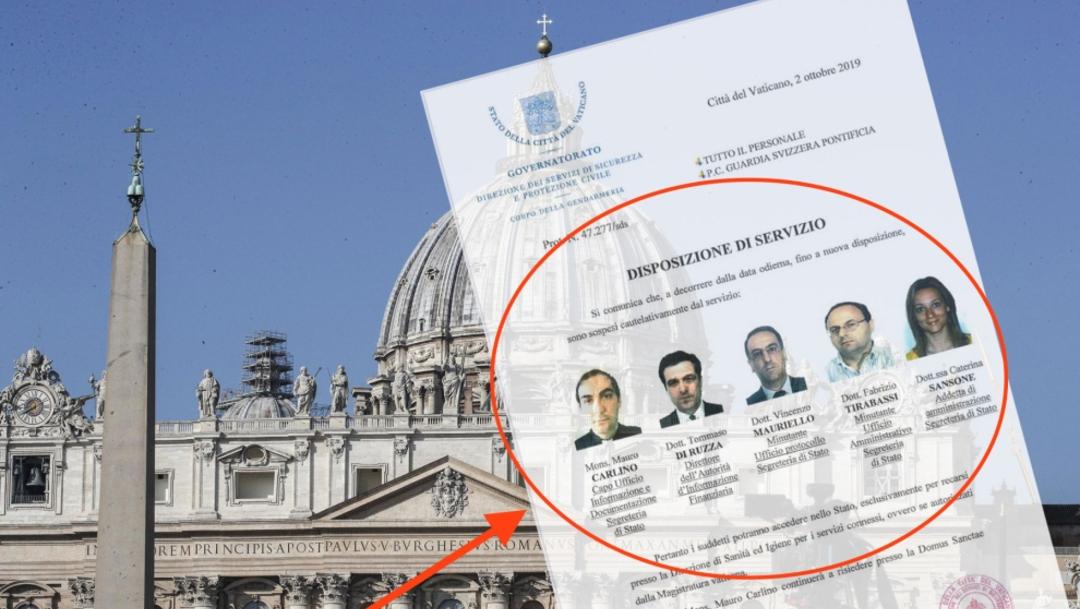 De acuerdo con el documento, miembros de la Gendarmería decomisaron documentos y computadoras en la Secretaría de Estado por orden del promotor de Justicia, 02 octubre del 2019 (L'Espresso)