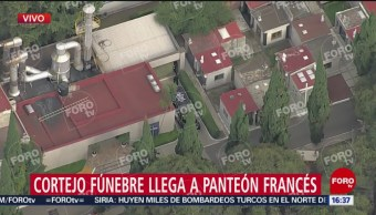 FOTO: Imágenes aéreas FOROtv llegada cenizas José José Panteón Francés,