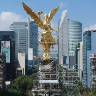 Imágenes exclusivas de la restauración del Ángel de la Independencia, CDMX