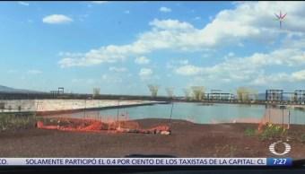 Imágenes exclusivas sobre inundación en construcción de aeropuerto de Texcoco
