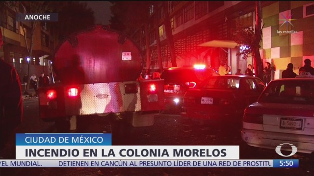 Incendio en colonia Morelos, de CDMX, moviliza servicios de emergencia