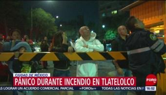 FOTO: Incendio en Tlatelolco deja una persona muerta, 13 octubre 2019