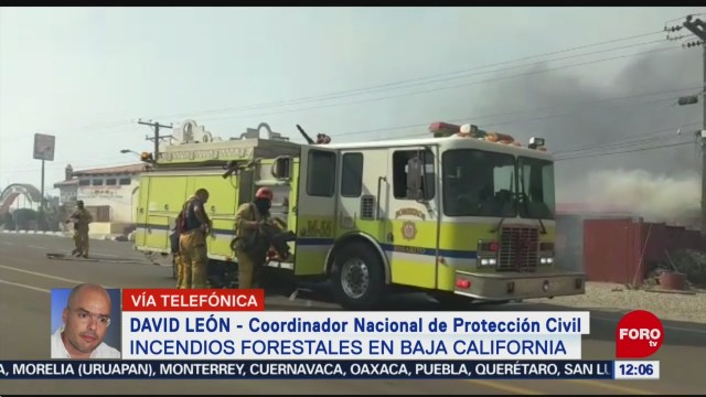Foto: Incendios Forestales Baja California Protección Civil 26 Octubre 2019