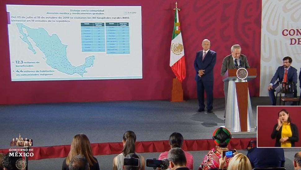 FOTO Jorge Alcocer rinde un informe sobre el Sistema Nacional de Salud (YouTube)