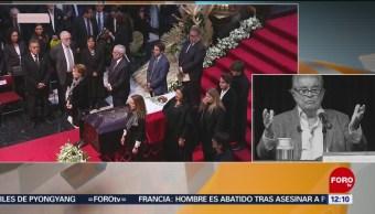 Inicia homenaje a Miguel León-Portilla en Palacio de Bellas Artes