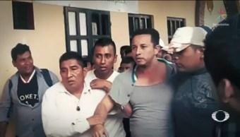Foto: Irrumpen Violencia Palacio Municipal Simojovel Alcaldesa 14 Octubre 2019