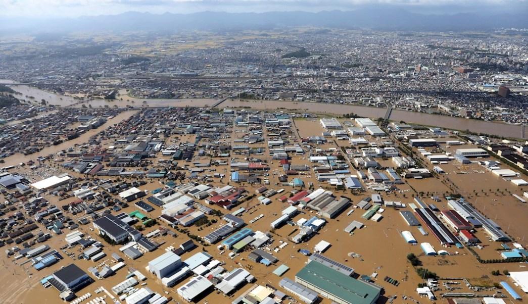 Foto: El paso del poderoso tifón Hagibis ha dejado importantes inundaciones en diversas zonas de Japón, 13 octubre 2019