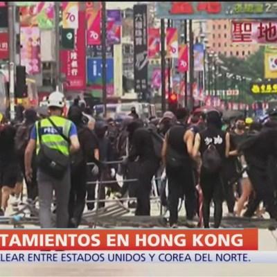 Jornada de protestas violentas en Hong Kong
