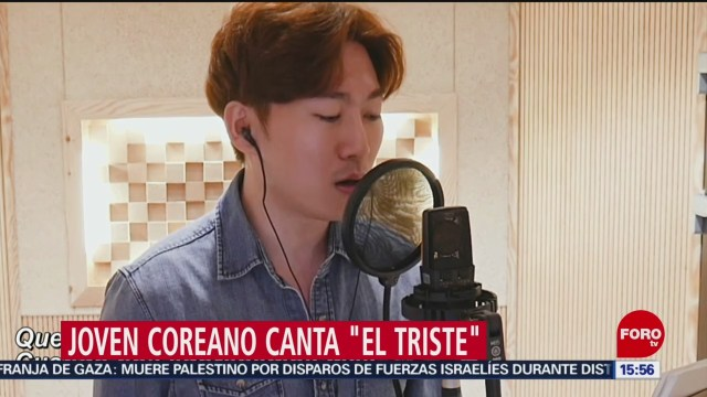 FOTO: Joven Coreano Canta El Triste