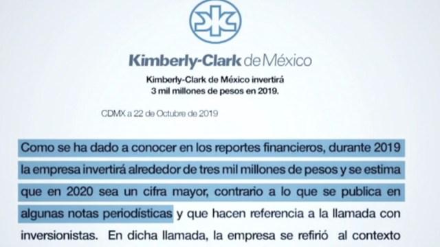 FOTO Kimberly-Clark afirma que sí invertirá en México (Noticieros Televisa)