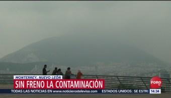 FOTO: contaminación en aumento Monterrey Nuevo León