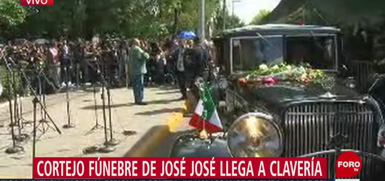 FOTO: Llega Cortejo Fúnebre José José Parque China