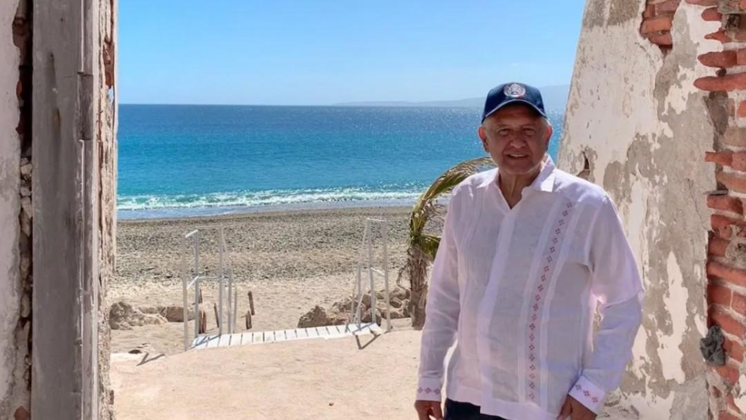 Foto: López Obrador en las Islas Marías, febrero 2019, México