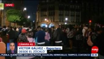 Manifestantes complican circulación vial en el Zócalo capitalino