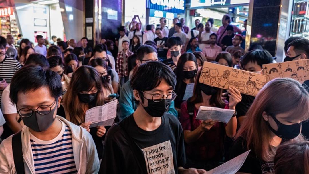 Foto: Manifestaciones antigubernamentales en Hong Kong salen a las calles, 23 octubre 2019