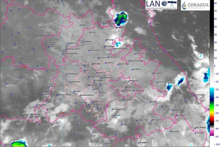 Foto: La imagen de satélite muestra cielo nublado en el centro del país, 69 octubre 2019