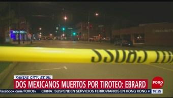 FOTO: Marcelo Ebrard confirma mexicanos muertos tras tiroteo en Kansas, 6 octubre 2019