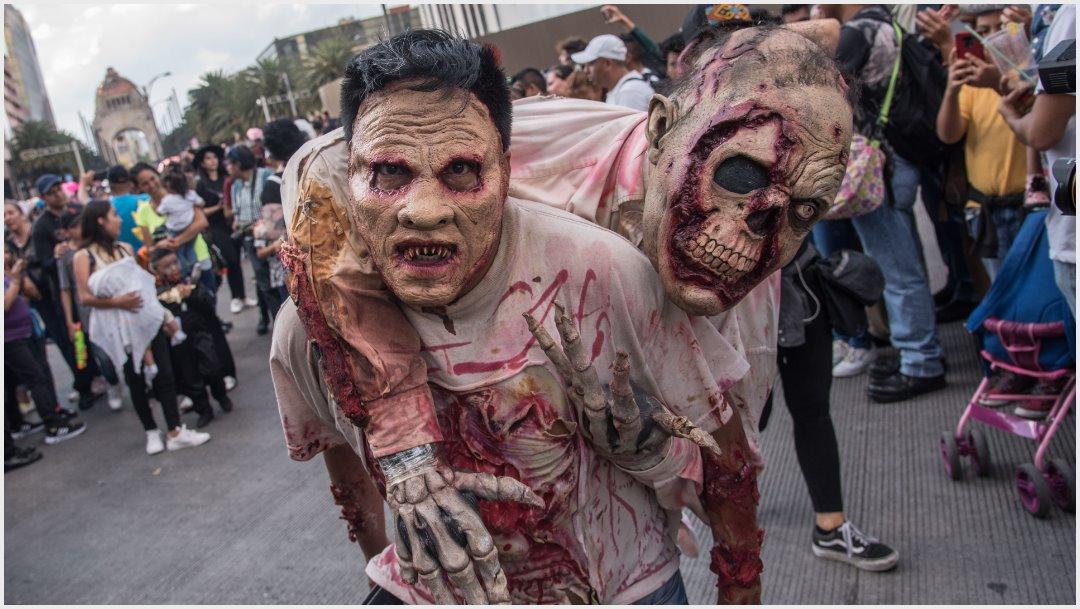 Fotos: Miles de zombies atemorizaron a la Ciudad de México, 19 de octubre de 2019 (MARIO JASSO /CUARTOSCURO.COM)