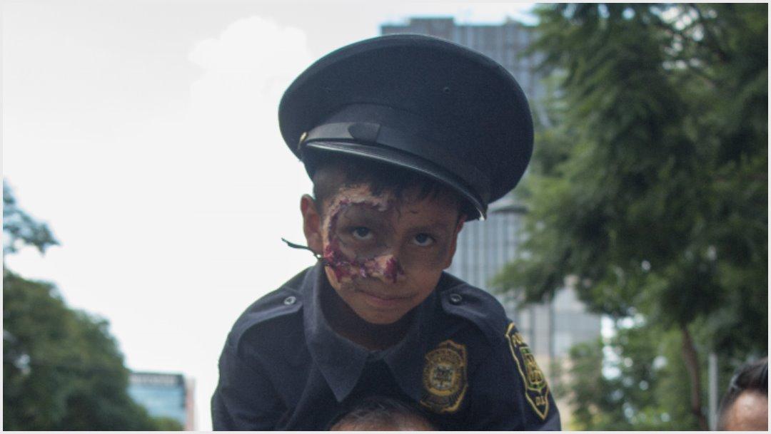 Foto: Los niños también se sumaron a marcha de zombies en la CDMX, 19 de octubre de 2019 (MARIO JASSO /CUARTOSCURO.COM)