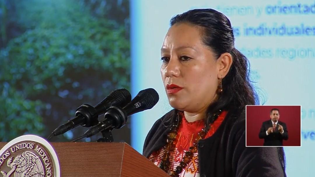 María Luisa Albores, secretaria de Bienestar, 9 de octubre de 2019, Ciudad de México