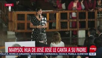 FOTO: Marysol Sosa Hija José José Le Canta Su Padre