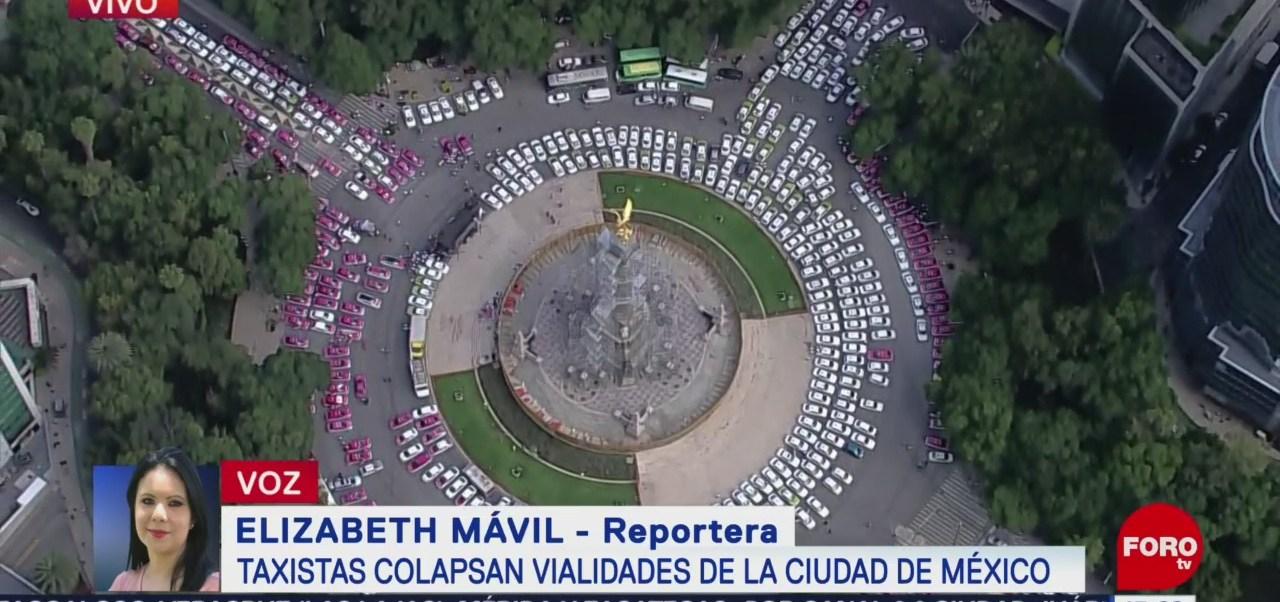 FOTO: Más 750 Taxis Permanecen Estacionados Sobre Paseo Reforma