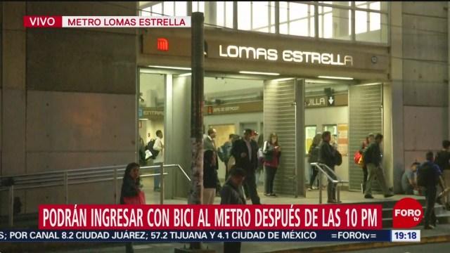 Foto: Metro Acepta Bicicletas Después 10 Noche 21 Octubre 2019