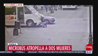 Foto: Microbús Atropella Dos Mujeres Puebla 8 Octubre 2019