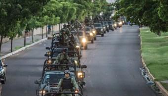 Foto: Alrededor de 200 militares del grupo de fusileros paracaidistas arribaron a Culiacán para reforzar la seguridad en la ciudad, 23 octubre 2019