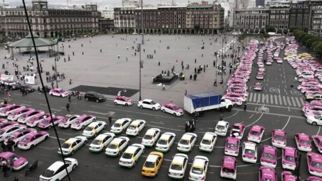 Los taxistas marcharán del Ángel de la Independencia al Zócalo, 05 de octubre de 2019, (Twitter @monteror32)