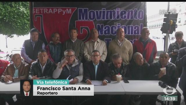 FOTO: Movimiento Nacional Taxista se deslinda marcha 21 octubre