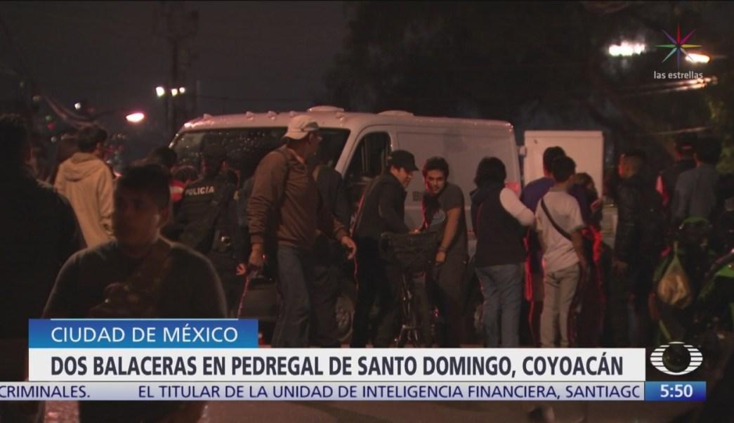 Muere hombre durante balaceras en Santo Domingo Coyoacán