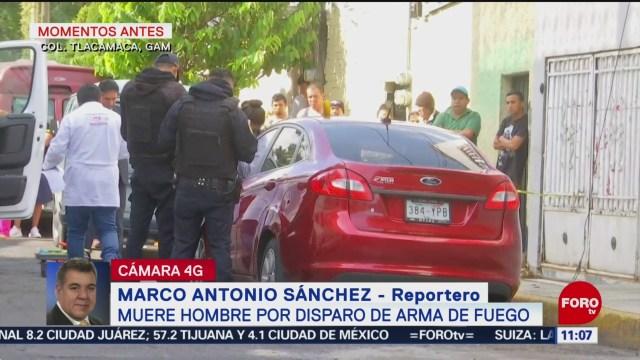 Muere hombre por disparo de arma de fuego en la GAM