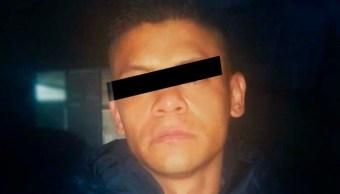 """Foto: El detenido fue identificado como Fernando Rivera """"N"""", de 26 años, un exconvicto y presunto sicario del grupo delictivo la Unión, 14 de octubre de 2019 (Twitter @SSP_CDMX)"""