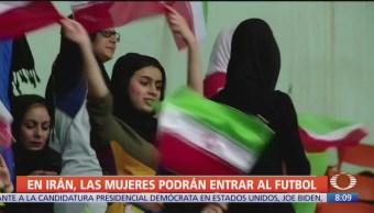 Mujeres podrán ver futbol dentro de un estadio en Irán
