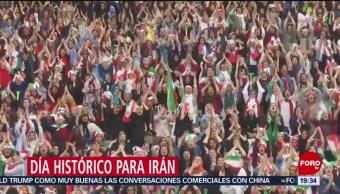 Foto: Mujeres Presencian Partido Futbol 40 Años Irán 10 Octubre 2019