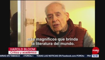 FOTO: Murió Harold Bloom 89 años