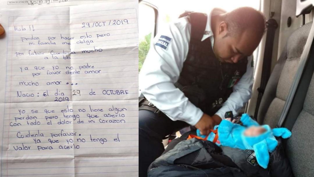 Foto: niña abandonada en morelia. 30 de Octubre