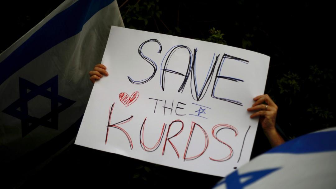 Foto: Ninos-desplazados-ofensiva-turca-siria-protesta-israel, 15 de octubre de 2019